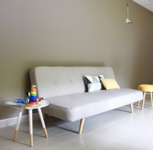 Conception espace d'attente, mobilier, matières - Sandrine Gauquier Achitecte Interieur- cabinet médical spécialiste