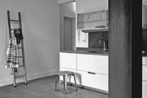 Création cuisine, crédence béton ciré - Sandrine Gauquier architecte d'intérieur - Projet rénovation maison de ville